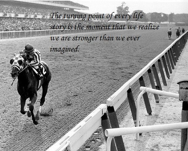 Secretariat's 31 length 1973 Belmont Stakes win for the Triple Crown. Probably the most amazing horse ever to grace this earth.