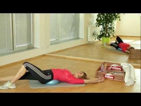 Posilování overball 1 - Hanka Kynychová - Power training overball 1 - YouTube