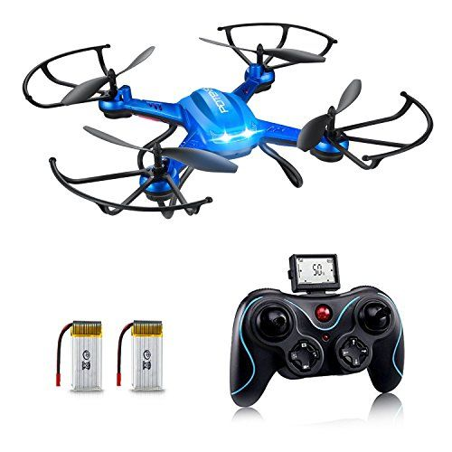 Potensic Dron con Telecámara, F181H WiFi FPV 2.4Ghz Hover Dron, 4 Canales y 6 Ejes Cuadricoptero RTF Videocámara 720P HD Cámara de 2 MegaPixeles Control de Altura y Función de Flips 3D - Azul - http://www.midronepro.com/producto/potensic-dron-con-telecamara-f181h-wifi-fpv-2-4ghz-hover-dron-4-canales-y-6-ejes-cuadricoptero-rtf-videocamara-720p-hd-camara-de-2-megapixeles-control-de-altura-y-funcion-de-flips-3d-azul/