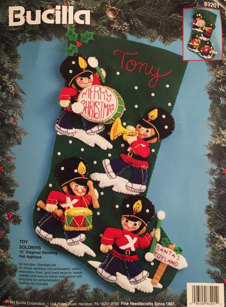Bucilla Felt Christmas Stocking Kit Toy Soldiers 83201 18 Inch Personalize Craft #Bucilla