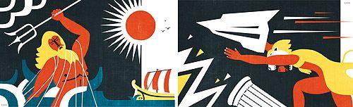 illustration / april-december 10 by iv orlov, via Behance