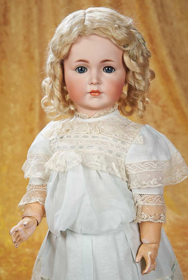 """The Empress and the Child - Antique Dolls: 155 Bisque """"Mein Liebling"""",Model 117,by Kammer and Reinhardt"""