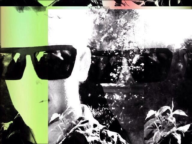 A heavily edited selfie