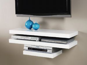 Floating MFD Wall Mount Shelf Cube Sky box,Dvd,Hifi units 25 or Black/White