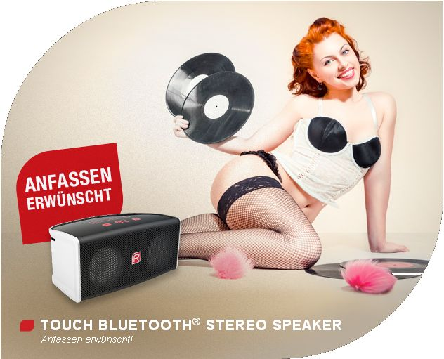 RAIKKO® TOUCH Bluetooth® Stereo Vacuum Speaker