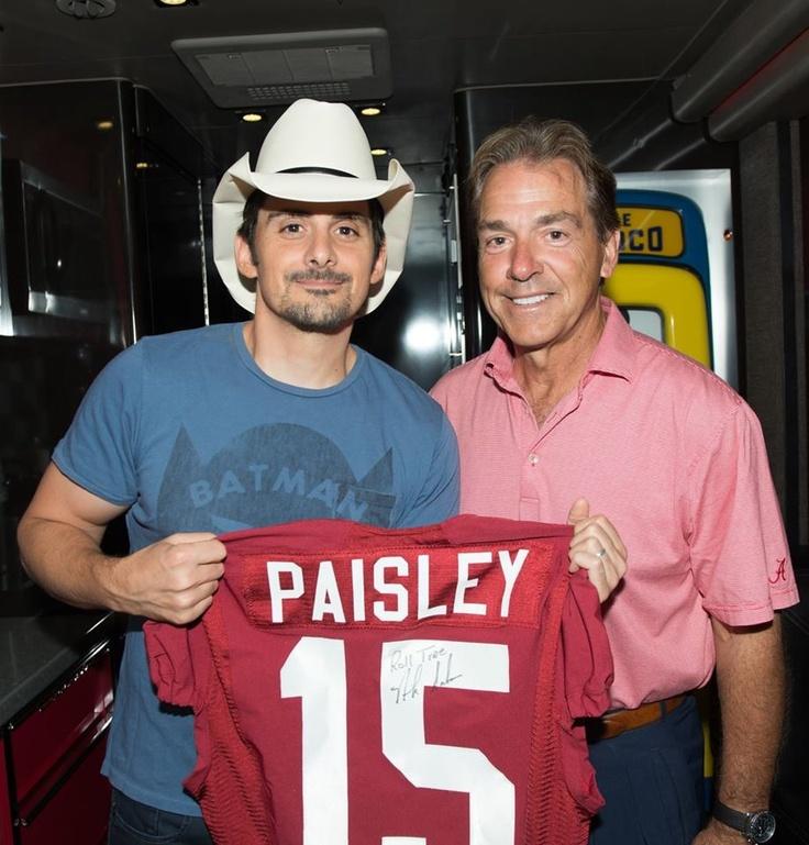 West Virginia boy loving some Roll Tide, Brad Paisley! Love it!