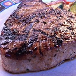 Marinated tuna steak