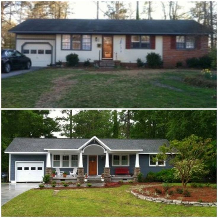 small ranch exterior makeover - Google Search                                                                                                                                                      More