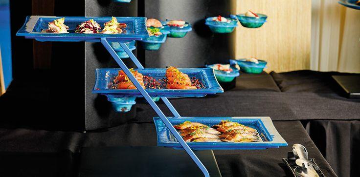 Three tier plate holders