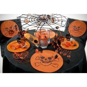 Déco toile d'araignée noire pailletée en métal 55x55cm déco Halloween