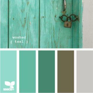 Washed teal color palette by Design Seeds www.design-seeds.com