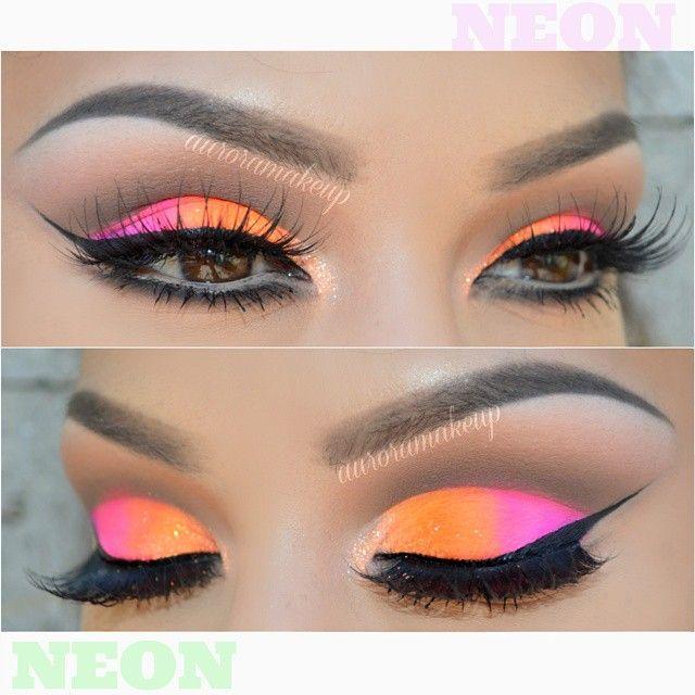 ♥AURORA ♥ @auroramakeup Same neon look th...Instagram photo | Websta (Webstagram)