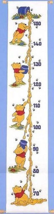 Winnie l'ourson, échelle de croissance  1 de 7