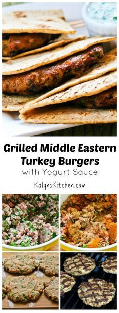 Grilled Middle Eastern Turkey Burgers Recipe with Yogurt Sauce [from ...
