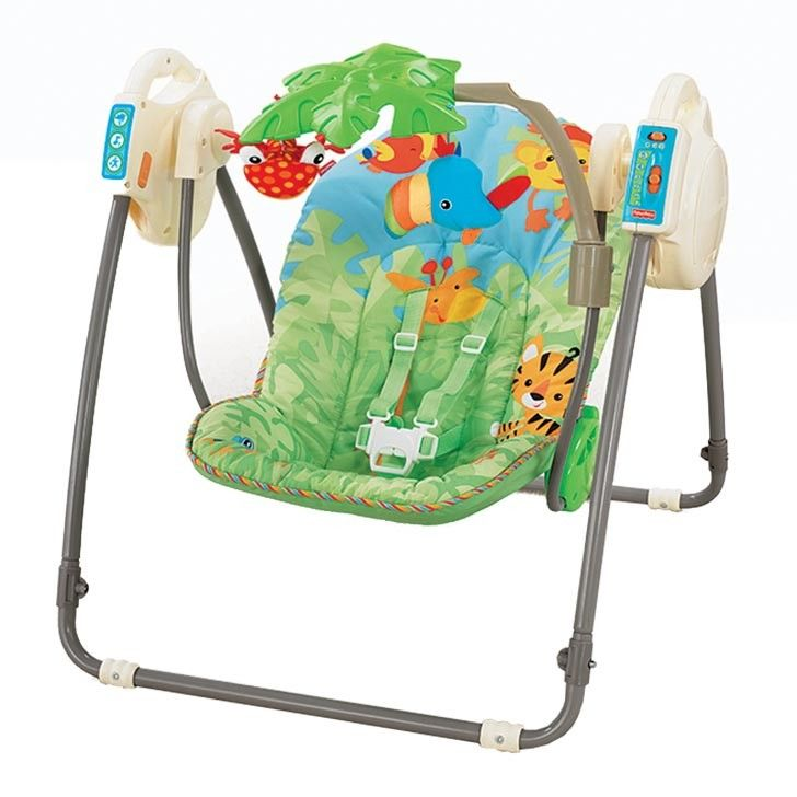 Fisher Price Rainforest Open Top Cradle Swing Learning