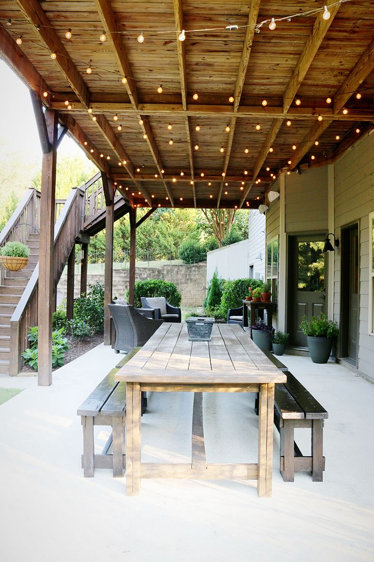one patio makeover - Inexpensive Patio Furniture Ideas