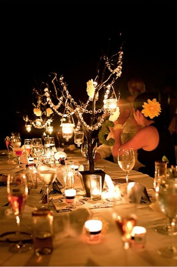 Trees White, Ears Fall Wedding, Magic Gardens, Indoor Winter, Outdoor Parties, Fall Weddings, Gardens Parties, Wedding Centerpieces, Center Pieces