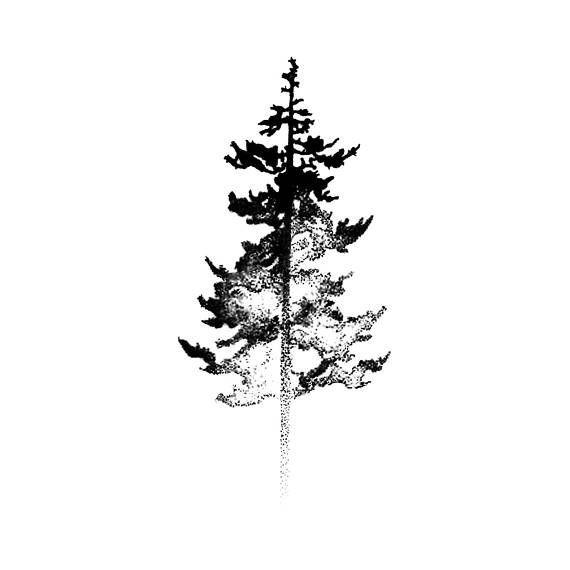 Baum-Schattenbild – realistische temporäre Tätowierung