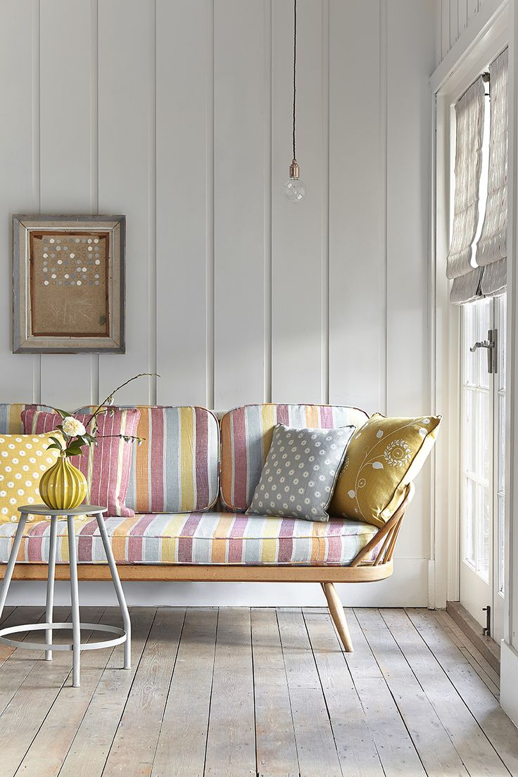 Ercol Sofa covered in Scandi Warm.