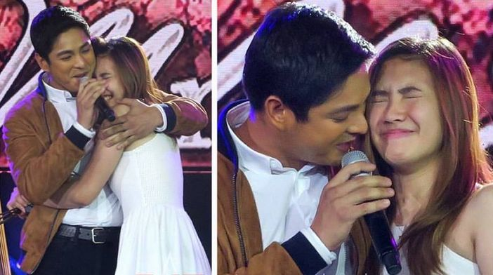 "Coco Martin surprised Angelica Jane Yap, popularly known as 'Pastillas Girl,' during the 6th anniversary celebration of ""It's Showtime"" live at the Smart Araneta Coliseum Saturday."