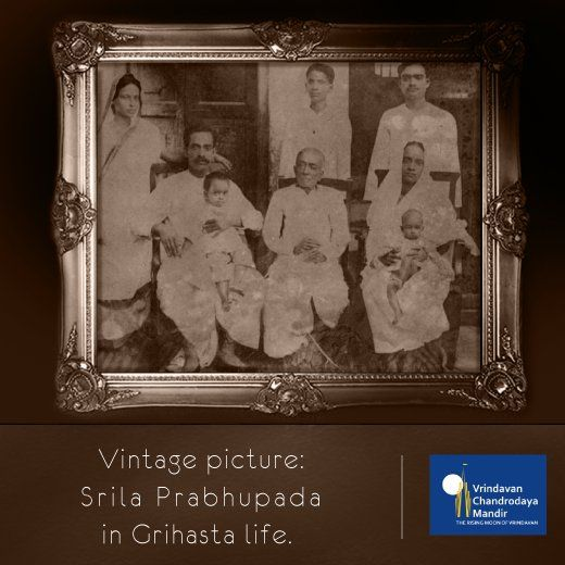 #SrilaPrabhupada was born as Abhay Charan De in Kolkata. Here's a vintage picture of His Divine Grace.