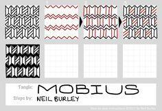 Mobius tangle pattern