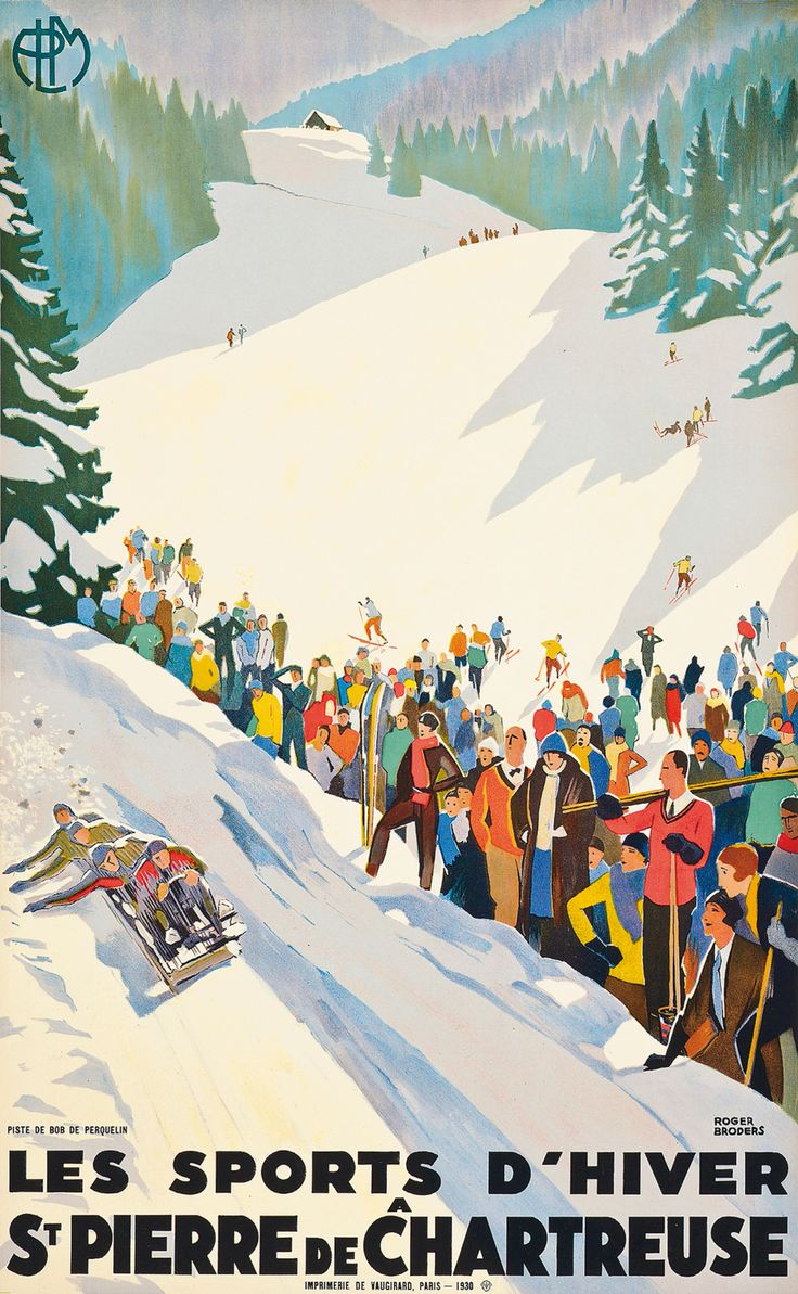 le retro poster ski vintage