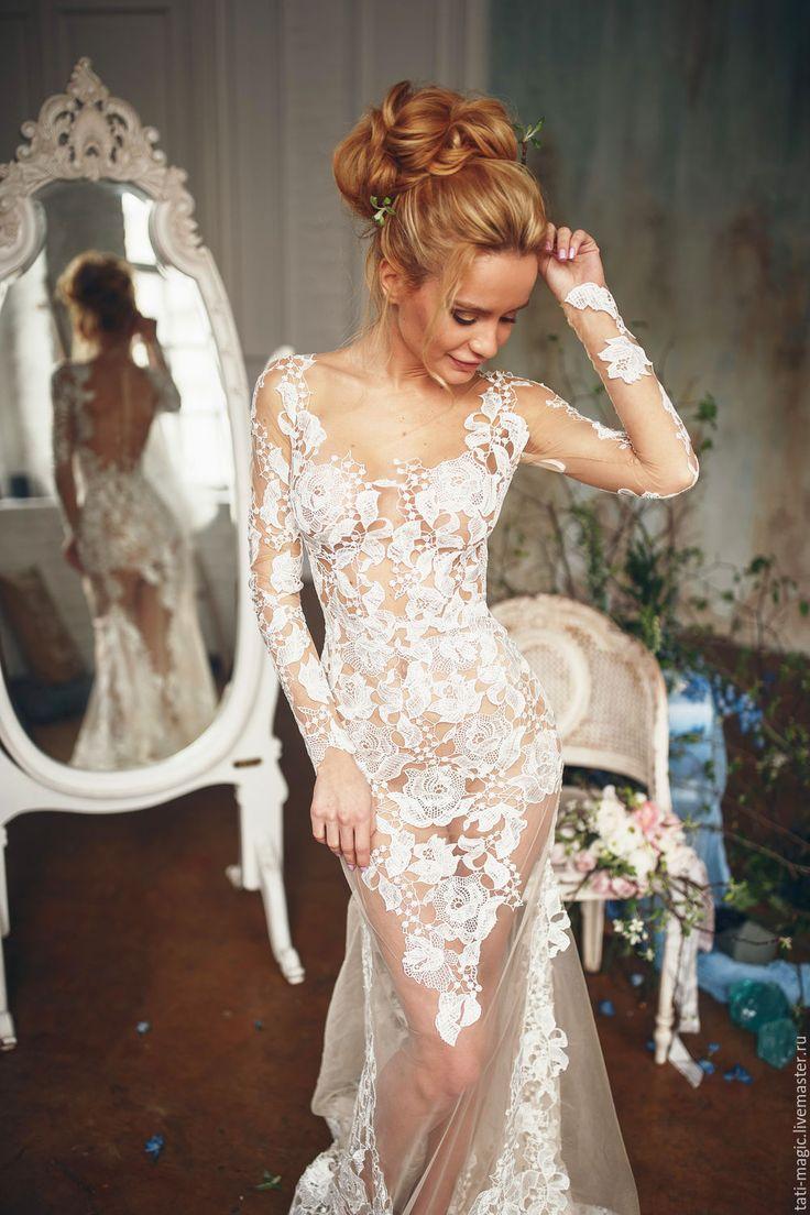 Boudoir lace dress for wedding photoshoot | Купить Будуарное платье. Свадебный наряд для невесты кружево - белый, свадьба, свадьба в морском стиле