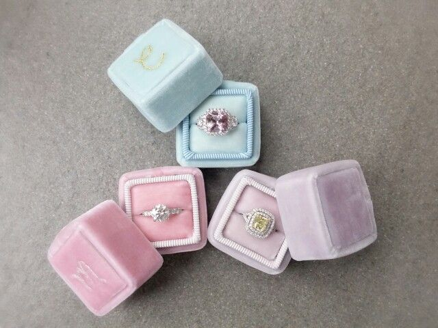 Addicted in making these tiny velvet ring boxes .