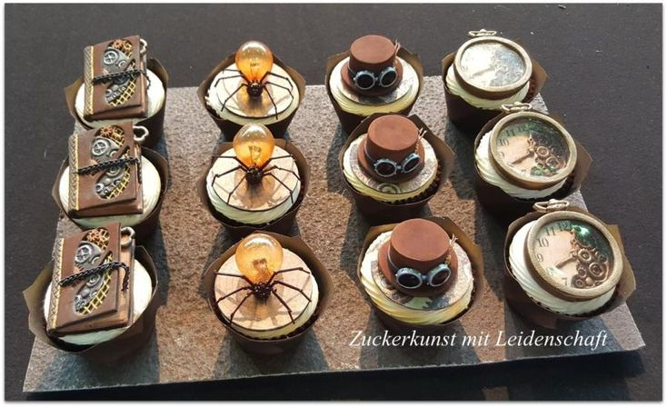 Steampunk Cupcake, Gold Cupcake, Best of Class, Best of Show in Cake&Bake Germany – Dortmund