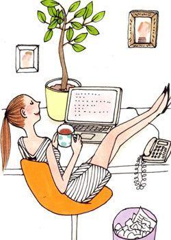 Pause café au boulot....au bureau mais aussi à la maison...souffler un peu avant l'arrivée de la tribu !
