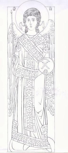 Studio icona Arcangelo Gabriele dal Monastero di Decani (1340 circa) - Giuliano Melzi - Picasa Web Albums