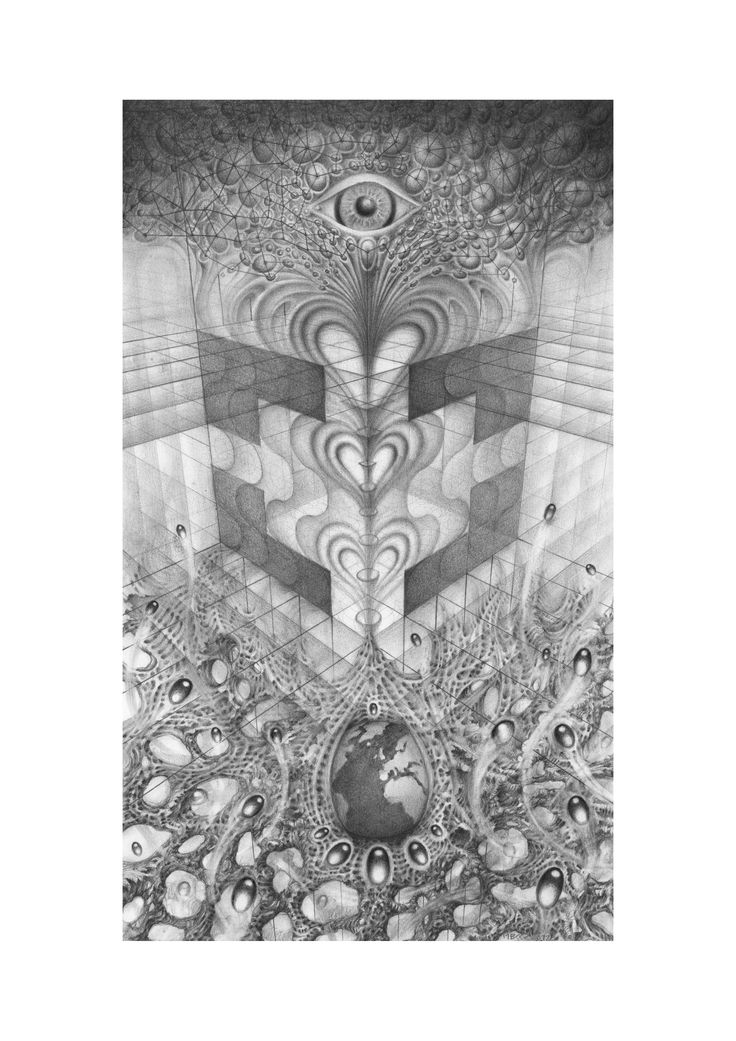 From the void rises the potential for everything.  Break everything to find that potential and fall back into the void to rise again and see...    MBKKR  2012  #surreal #visionary #drawing