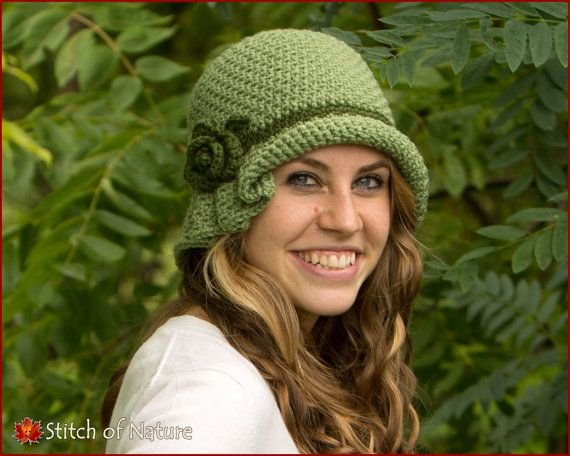 """This product is an easy to follow PDF pattern for a unique Virginia Pleated Hat with a Rose Flower Accent. Inspired by classic, timeless style of the roaring 20s this vintage design will keep you warm and cozy while looking chic and elegant.  This pattern is easy to follow. It is written in English using US crochet terms and includes photos for visual aid. THERE ARE NO RETURNS OR REFUNDS FOR DIGITAL PRODUCTS.  Hat Sizes: 18"""" doll - 12 ½"""" 1-3 years - 18-19½ 3-6 years - 19½""""-21"""" 6-12 years…"""