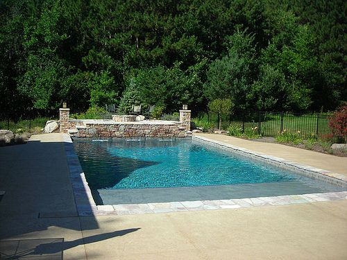 22 39 x 42 39 rectangle pool with sun shelf by bluewaterpoolp via flickr outdoor living