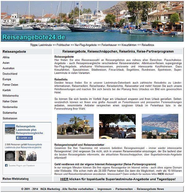 Domain reiseangebote24.de zu verkaufen - für Reiseveranstalter & Reiseportale!  http://www.ebay.de/itm/181489462606