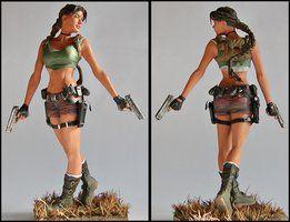 Lara Croft statue by lussybussy