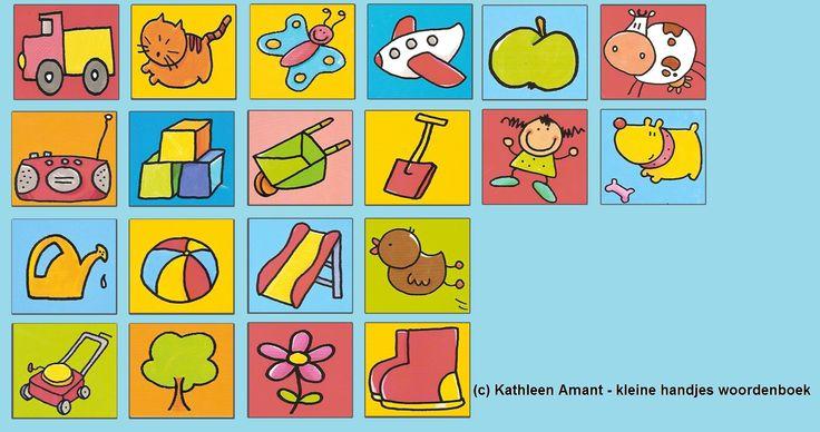 """Symbolen voor mijn peuters en 1K   (c) Kathleen Amant - """"kleine handjes woordenboek"""""""
