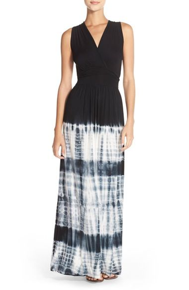 Fraiche by J Tie Dye Ombré Jersey Maxi Dress available at #Nordstrom