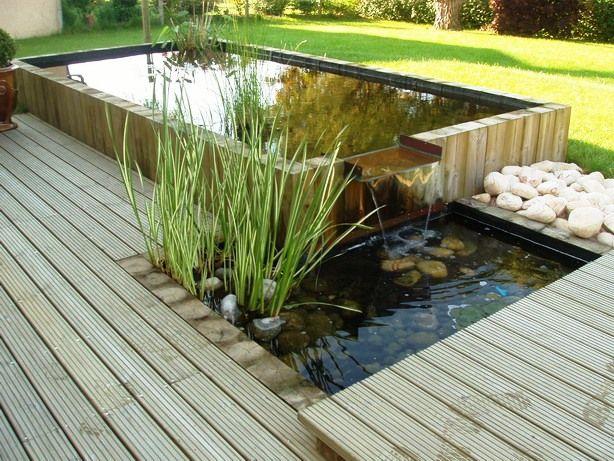 Bassin intégré dans une terrasse bois : création les Bojardins