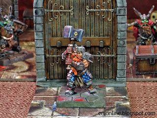 Heroes in action - Dungeon Saga painted miniatures ~ Enionline Alternative Worlds  #28mm #dungeondsaga #dungoensanddragon #d&d #miniature #heroes #painting #fantasy #boardgame #rordin #dwarf #nano
