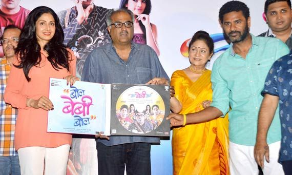 Sridevi, Prabhu Deva, Aruna Irani grace the music launch of 'Bol Baby Bol' (see pics)