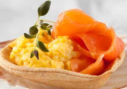 Smoked salmon and eggs