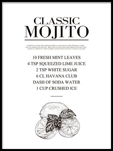 Mojito, plakat i gruppen Plakater / Størrelser / 30x40cm hos Desenio AB (7889)