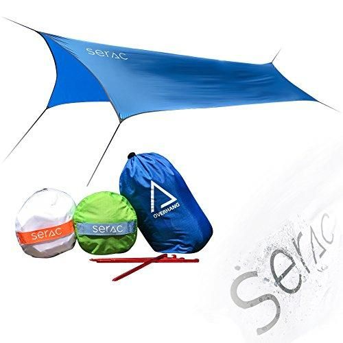 [#1 Hammock and Tent Tarp] Ultralight Hammock Rain Fly and Shelter perfect for waterproof camping, lightweight backpacking and portable for travel by Serac