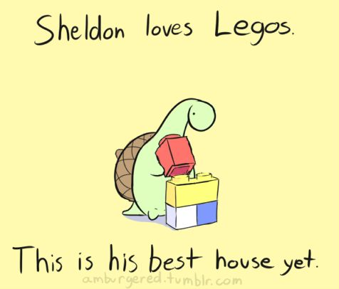 Legos would be so much more fun if I were Sheldon.