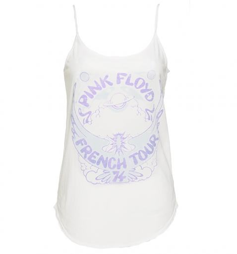 Ladies White French #Tour 74 Pink #Floyd #Strappy #Vest from Junk Food xoxo