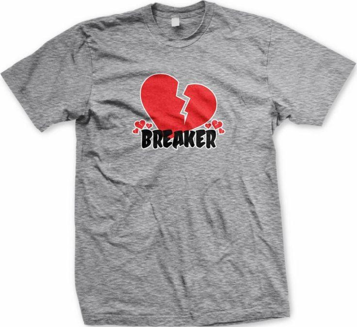 Heart Breaker Men's T-shirt Funny Valentine's Day Design Men's Tee