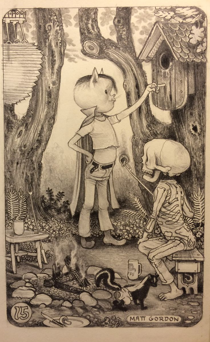 Pete and Spaetzle visit Cuckoo~ graphite in moleskine  Matt Gordon 2015