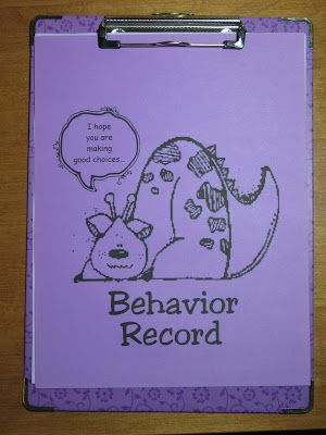 Behavior management system for upper elementary grades--- Finding JOY in 6th Grade: Classroom Management: The Purple Clipboard